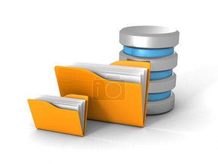 Computer Database With Office Folder