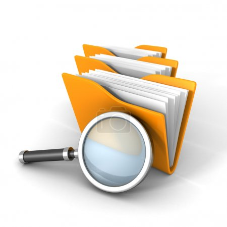Paper Document Folders With Magnifier Glass