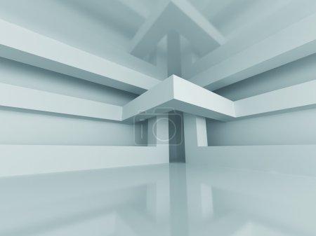 Foto de Abstract Modern Architecture Interior Background (en inglés). Ilustración de renderizado 3d - Imagen libre de derechos