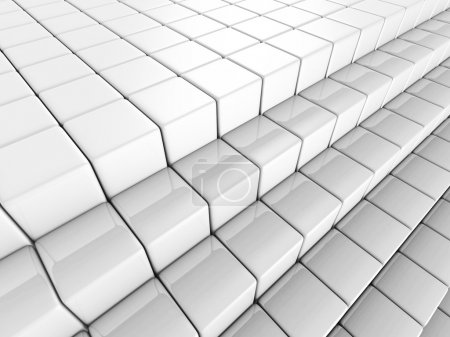 White Abstract Cube Blocks Background