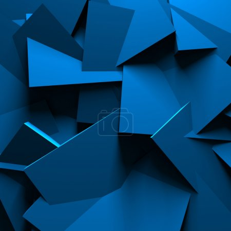 Blue Chaotic Design Wall Background
