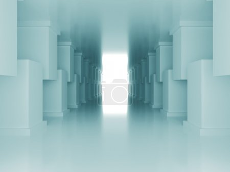 Photo for Abstract Modern Design building Background. 3d Render Illustration - Royalty Free Image