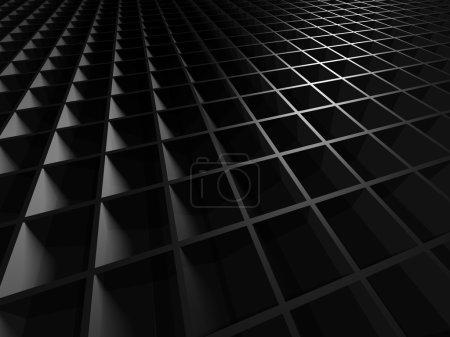 Photo for Dark Metallic Square Industrial Design Background. 3d Render Illustration - Royalty Free Image