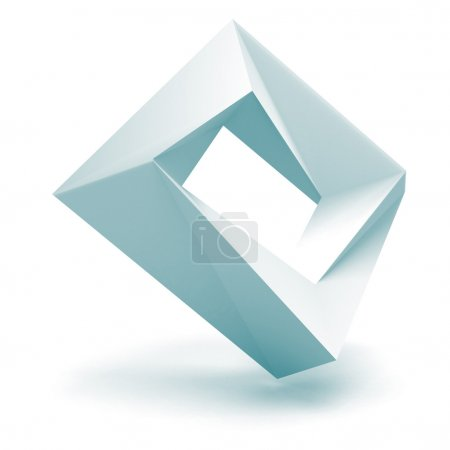 Abstract White Logo Square Shape Oblect