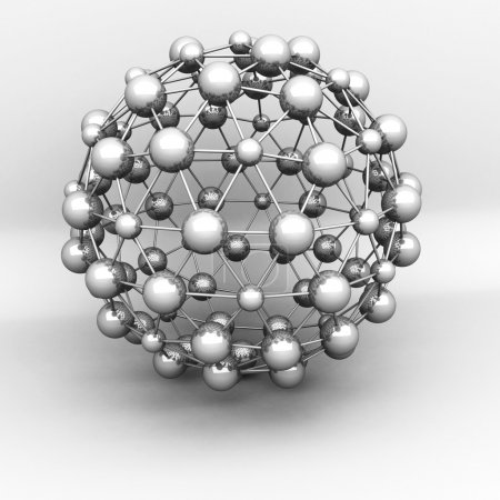 Abstract 3d Molecular Structure Object