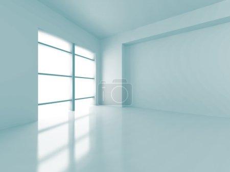 Photo pour Résumé Fond intérieur vide moderne futuriste. Illustration de rendu 3d - image libre de droit