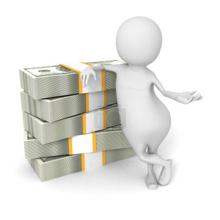 3d Man With Hundred Dollar Bills
