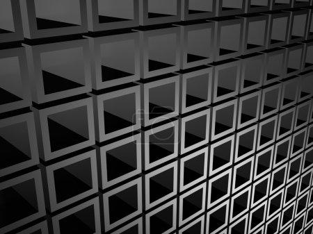 Dark Metallic Silver Cubes Background