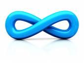 Blue Infinity Concept Symbol Icon