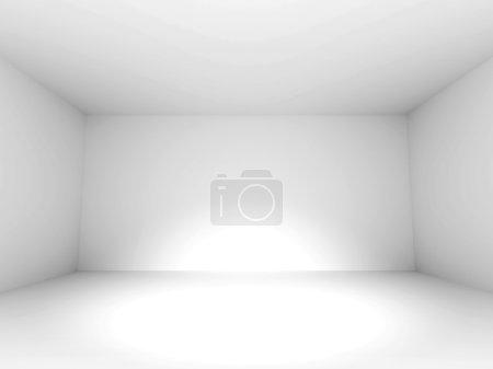 Photo pour Fond vide de conception de pièce blanche. Illustration de rendu 3d - image libre de droit