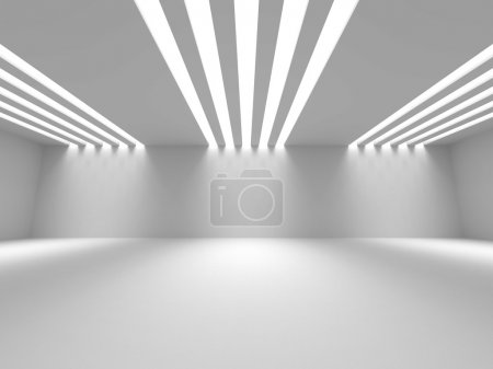 Photo for Empty Room Interior White Background. 3d Render Illustration - Royalty Free Image