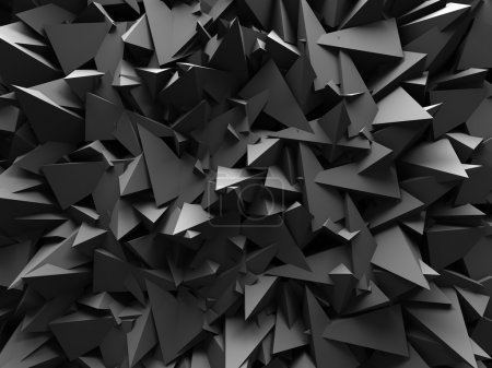 Abstract Dark Chaotic Wall Background