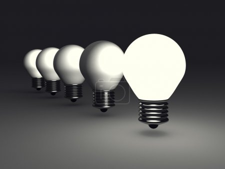 Leader Idea Light Bulb In Dark