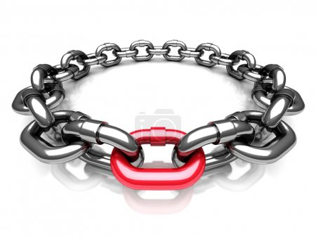 Red Different Chain Link