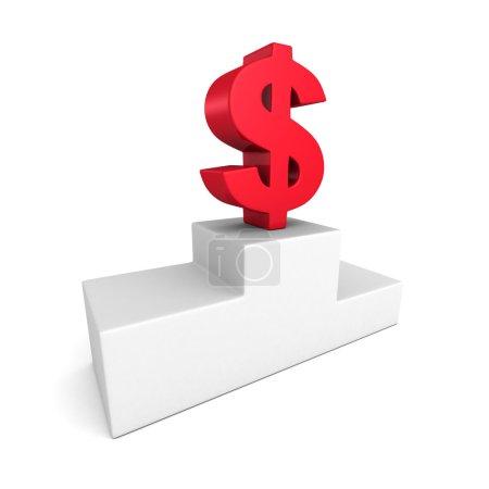 Big red dollar currency symbol