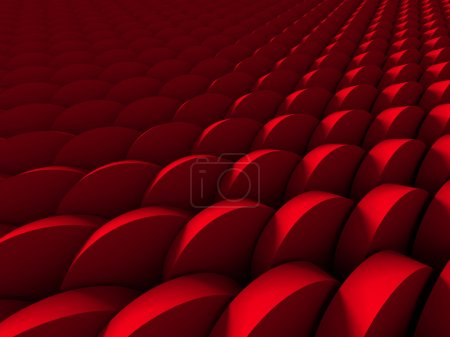Photo for Red Round Shapes Design Wallpaper Background. 3d Render Illustration - Royalty Free Image