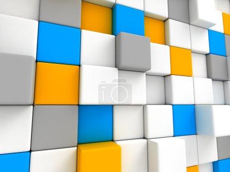 Cubes Blocks Wall