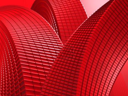 abstraktes rotes Design