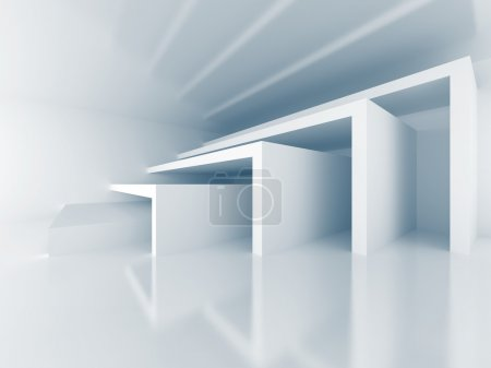 Photo for Abstract Architecture Modern Interior Background. 3d Render Illustration - Royalty Free Image