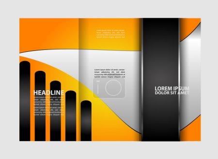 Vector Tri Fold Brochure Design. Corporate Leaflet, Cover Template