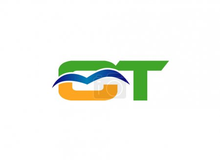 Letter T and C logo vector