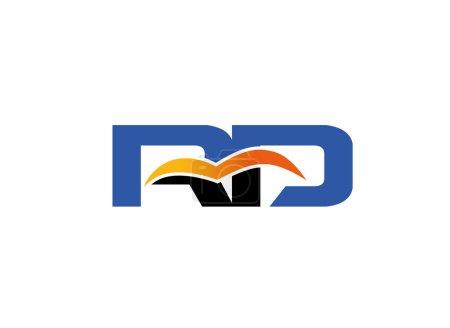 DR logo. Elegant alphabet r and d letter ds logo. Vector illustration