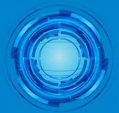 Modrý kruh abstraktní
