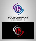 Abstract icons based on the letter L logo