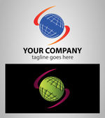 Global earth planet abstract network vector logo design template Internet communications