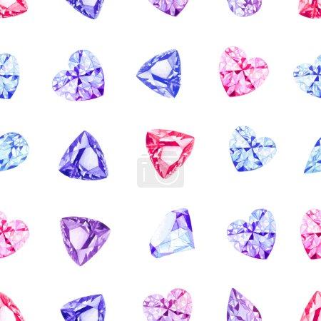 Shiny precious stones seamless vector pattern