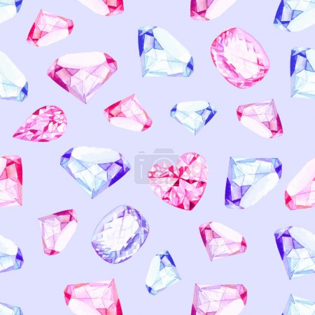 Delicate precious stones seamless vector pattern