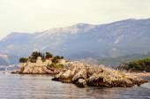 The famous island of St. Stephen in the Adriatic Sea near Budva. Montenegro.
