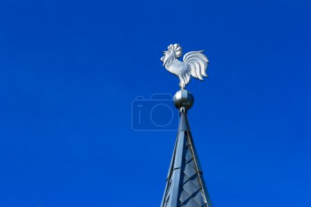 Tin-plate weathercock on the roof