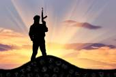 Silhouette der terrorist