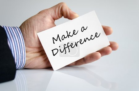 Make a difference text concept