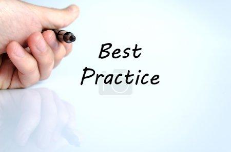 Best practice text concept