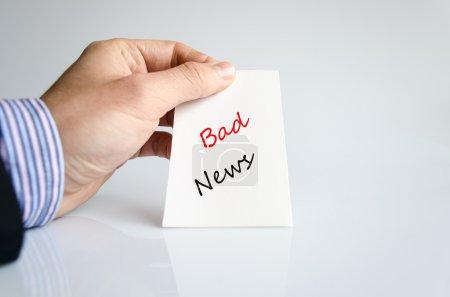 Text concept Bad News