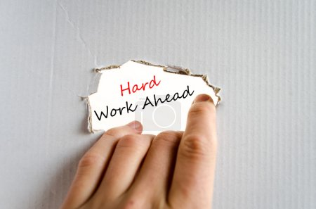 Photo for Hard work ahead hand concept isolated over white background - Royalty Free Image