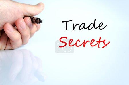 Photo pour Notion de texte de secrets d'affaires isolée sur fond blanc - image libre de droit