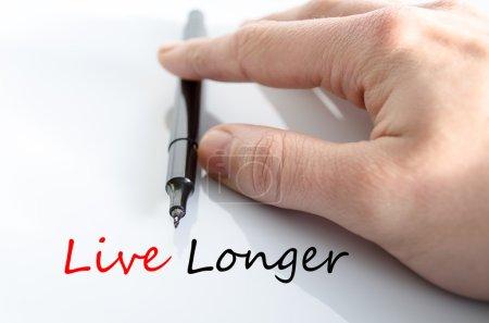 Vivir más tiempo Concepto de texto