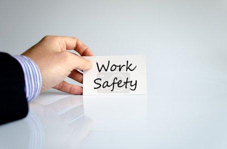 Photo pour Concept de texte de sécurité travail isolé sur fond blanc - image libre de droit