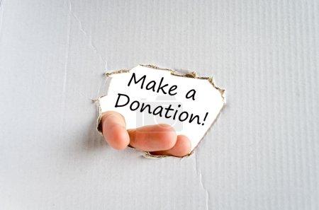 Make a donation text concept