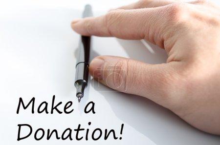 Photo pour Faire un don concept de texte isolé sur fond blanc - image libre de droit