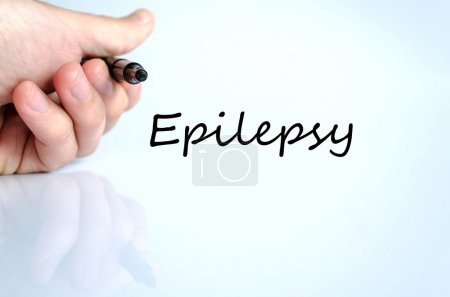 Photo for Epilepsy text concept isolated over white background - Royalty Free Image
