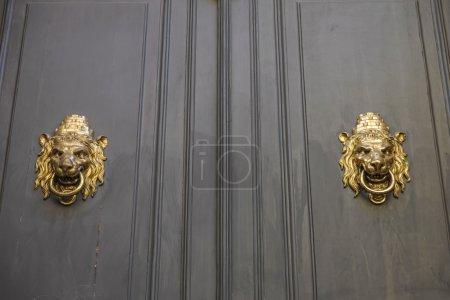 Golden door handles