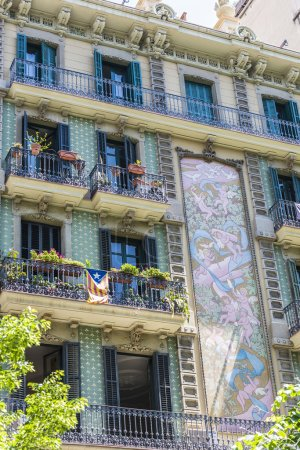 Classical building in Barcelona