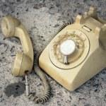 Brown old phone vintage style on a floor....