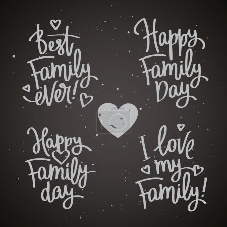 Set of labels to the Family Day