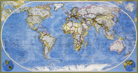 Karte des Planeten Erde