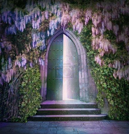 fantastic lights of an open door